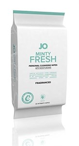 Салфетки для тела JO PERSONAL CLEANSING WIPES MINTY FRESH с ароматом мяты - 30 шт.